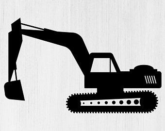 Etsy . Excavator clipart svg