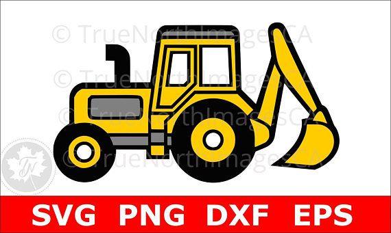 Svg clip art . Excavator clipart file