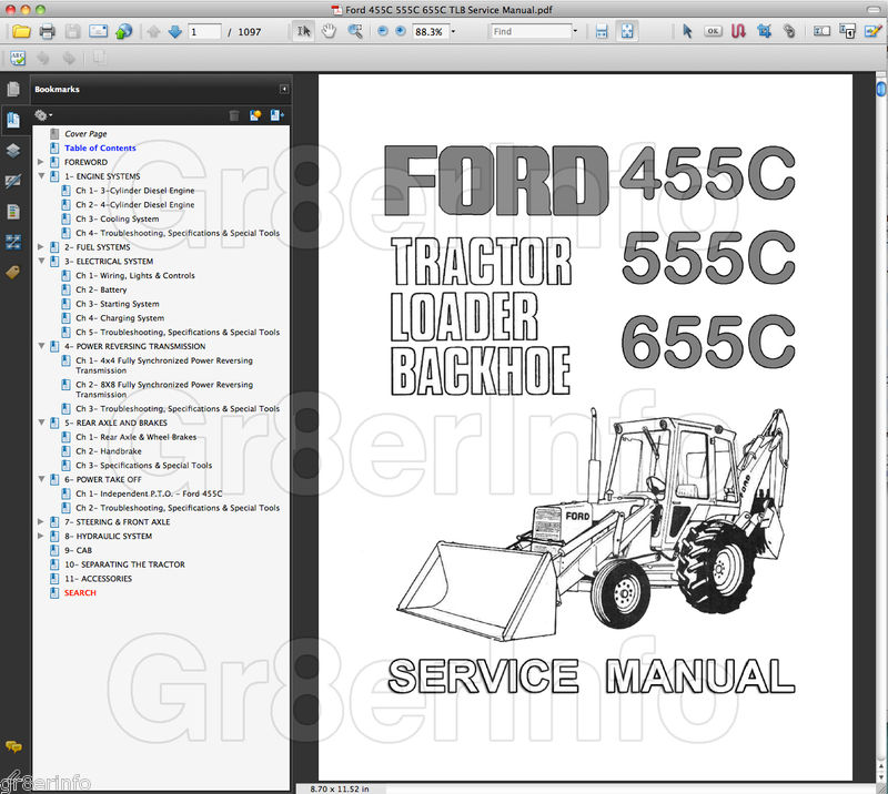 Backhoe clipart tlb. Ford c tractor repair