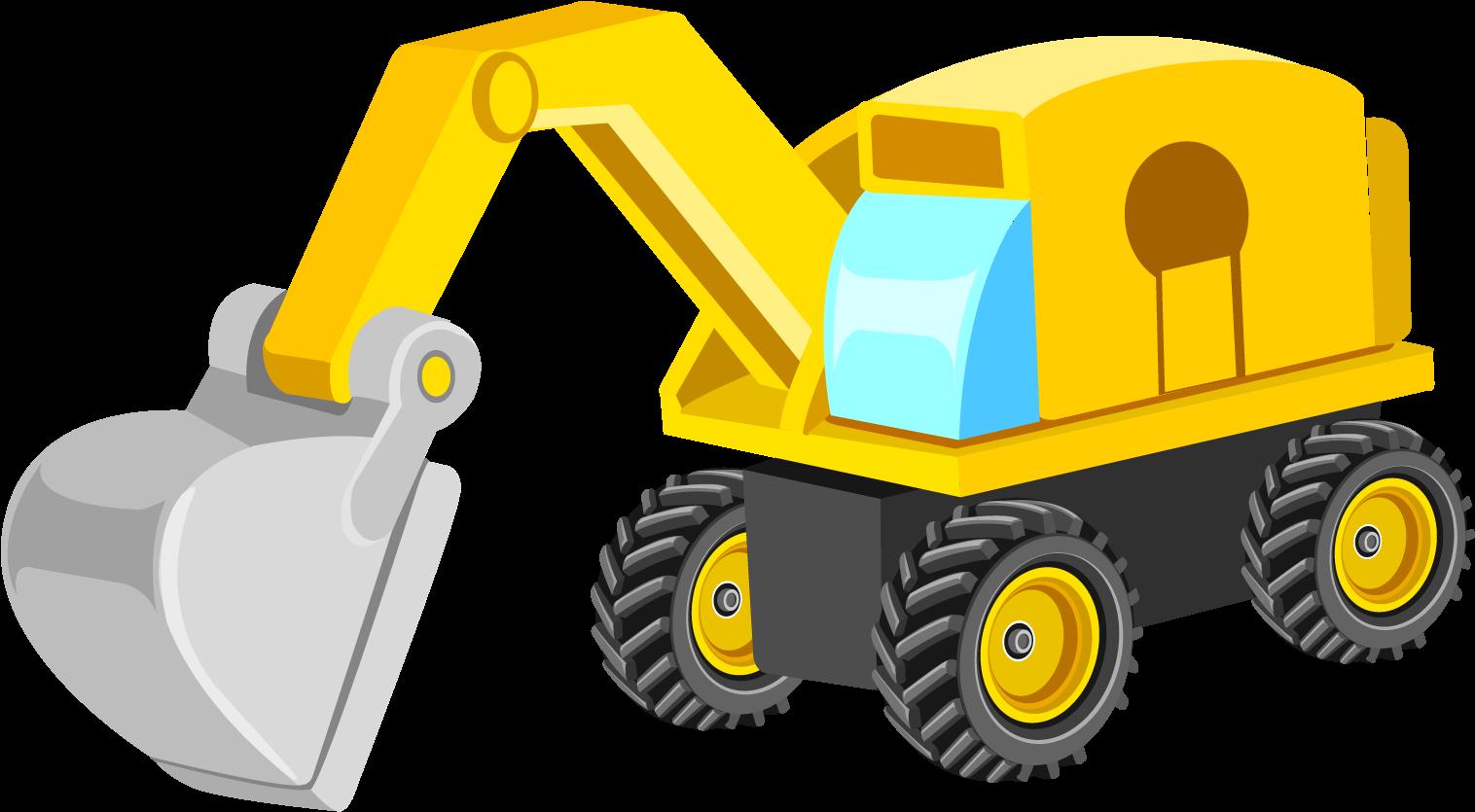 Backhoe clipart trackhoe. Excavator bulldozer machine png