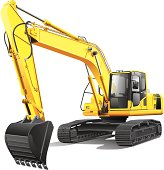 Backhoe clipart trackhoe. Free track hoe and