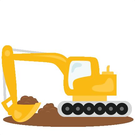 Excavator svg scrapbook cut. Backhoe clipart trackhoe
