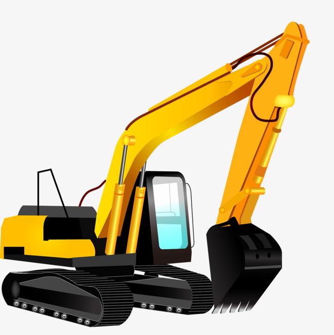 Backhoe clipart trackhoe. Cartoon excavator an building