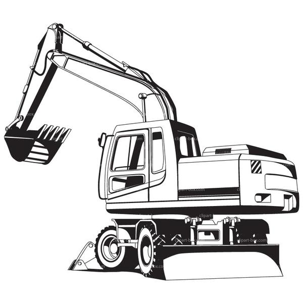 Heavy excavator free images. Backhoe clipart trackhoe