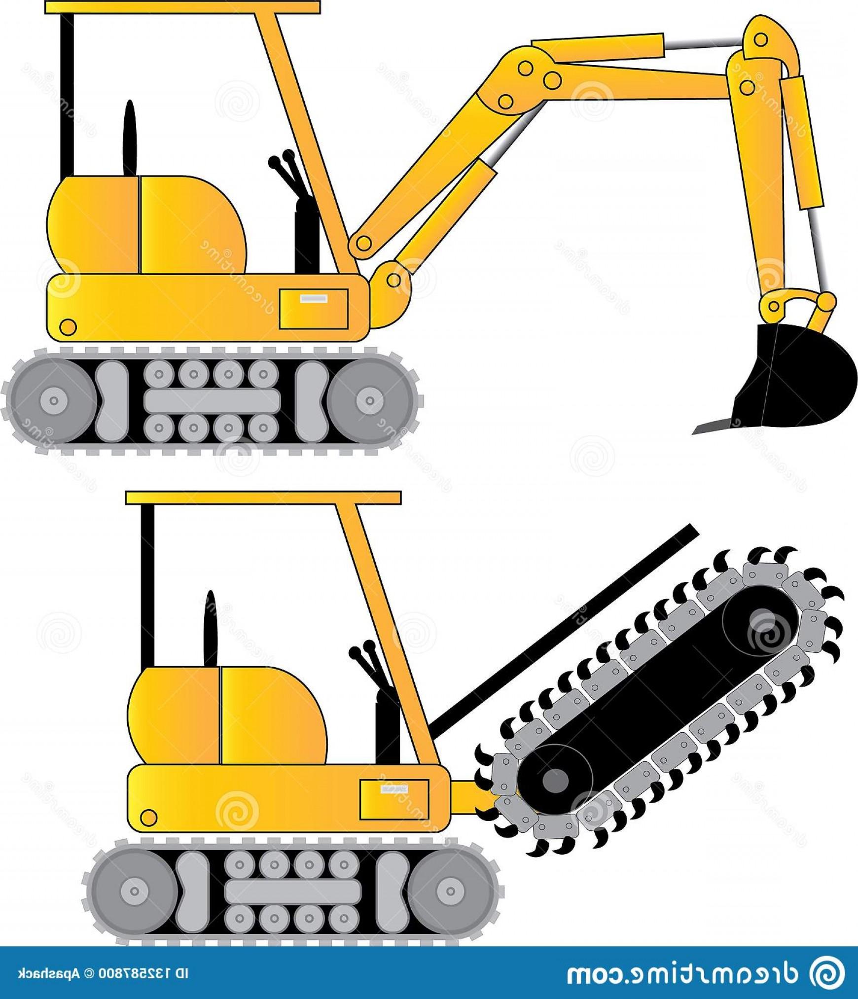 Small track hoe excavator. Backhoe clipart trackhoe