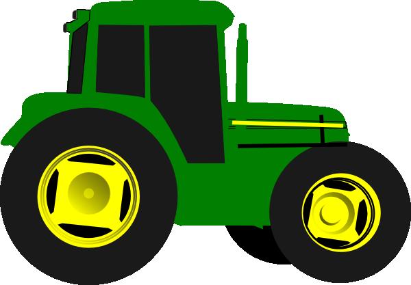 Backhoe clipart tractor john deer. Green clip art vector