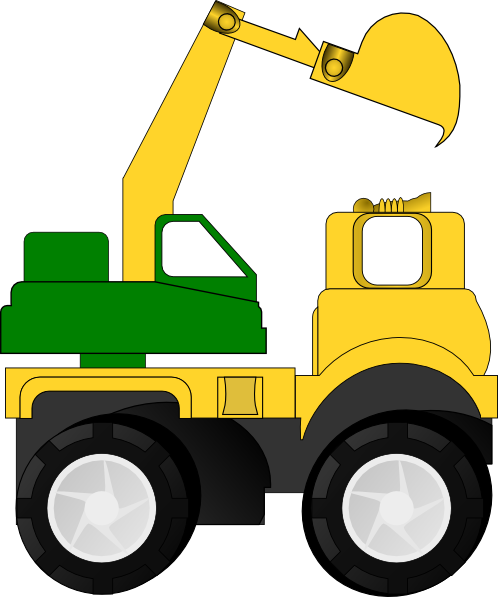 Backhoe clipart transparent. Cartoon excavator clip art