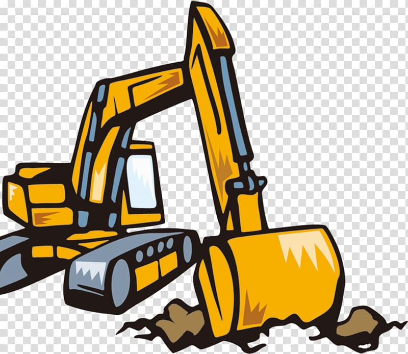 Backhoe clipart transparent. Excavator cartoon background