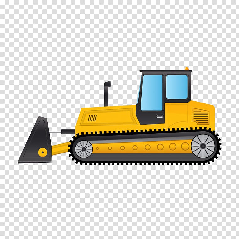 Bulldozer excavator cartoon . Backhoe clipart transparent