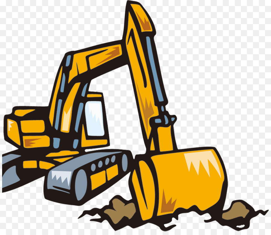 Backhoe clipart transparent. Excavator stock photography cartoon
