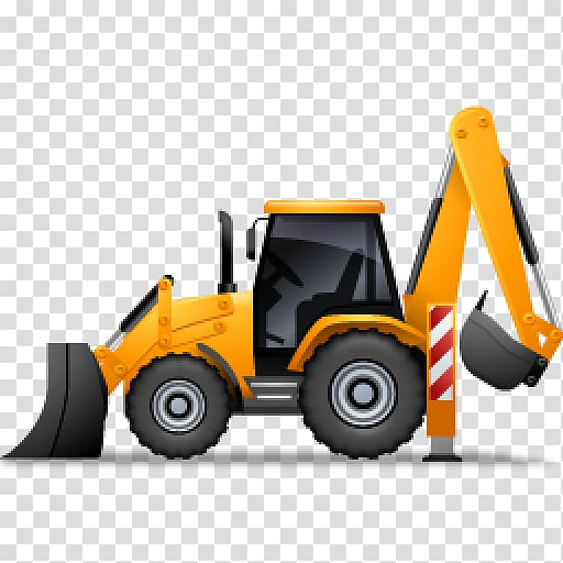 Backhoe clipart transparent. Loader excavator architectural engineering