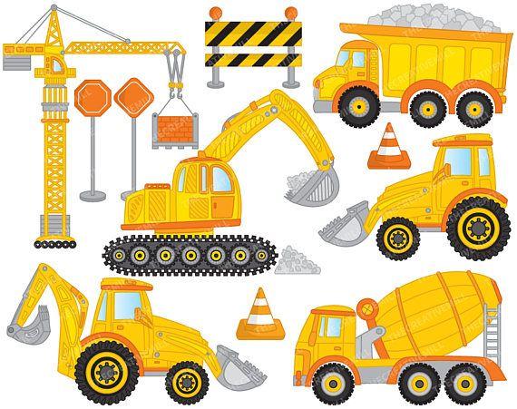 Construction vector crane more. Backhoe clipart truck tonka