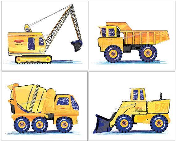 Backhoe clipart truck tonka. Construction prints art vehicles