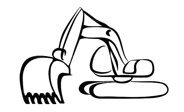 Free cliparts download clip. Excavator clipart outline
