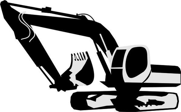 backhoe clipart vector