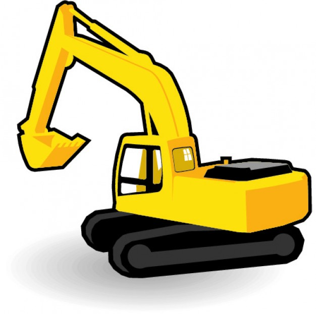 Backhoe clipart yellow digger. Silhouette at getdrawings com