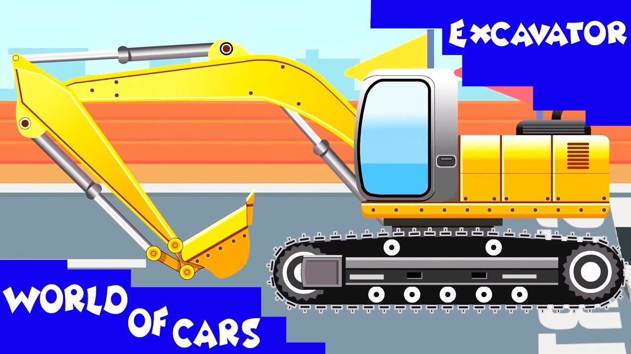 Backhoe clipart yellow digger. The excavator diggers cartoons