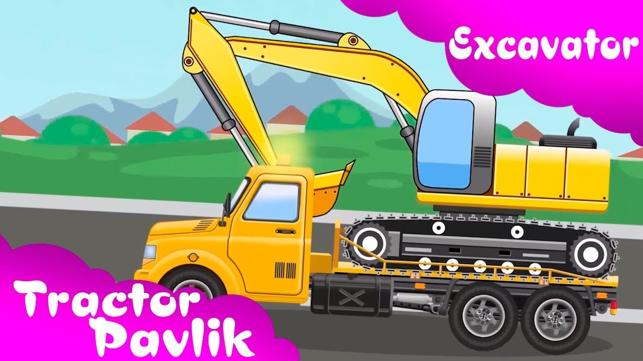 Backhoe clipart yellow digger. The excavator diggers for