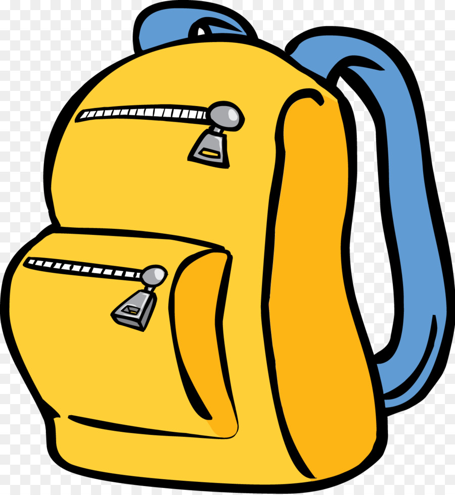 Backpack clipart. Cartoon drawing illustration