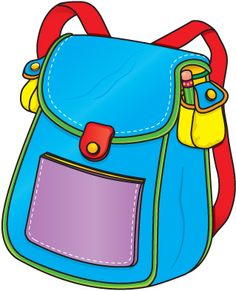 Backpack clipart 3 bag. Cute clip art lessons