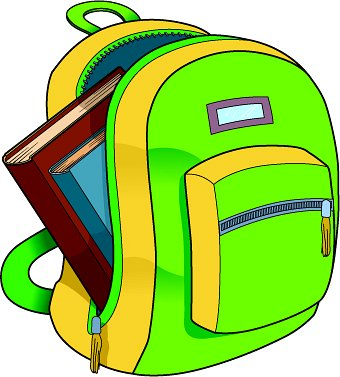 School . Backpack clipart