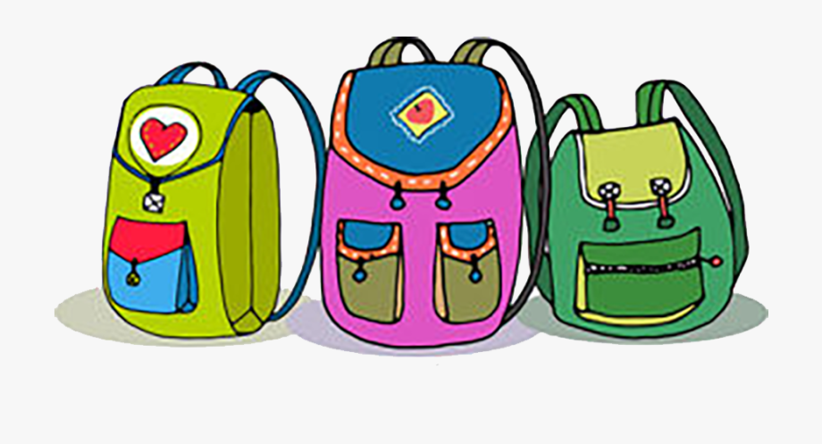 Png kids with backpacks. Backpack clipart