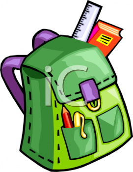 backpack clipart animation