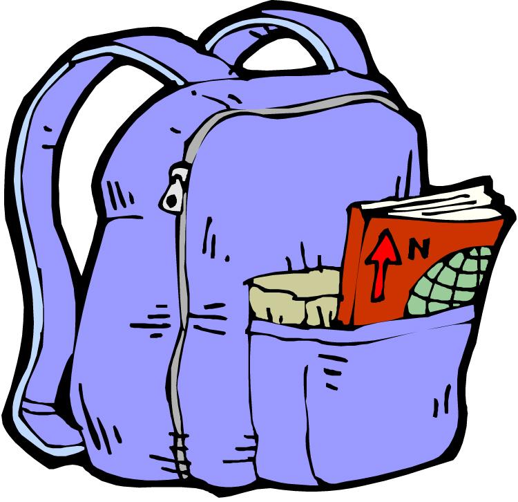 Full back pack . Clipart backpack