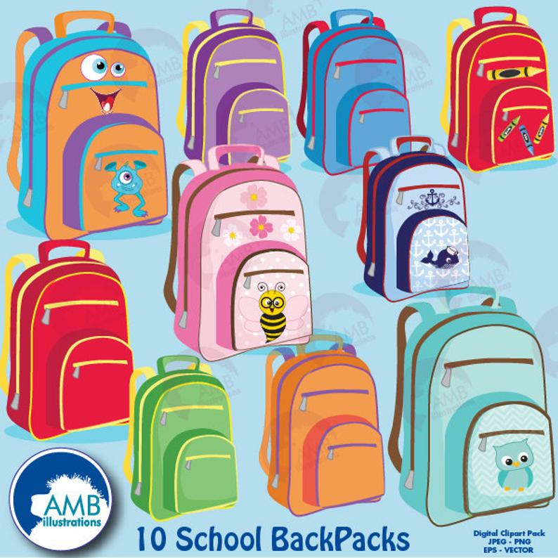 Classroom supplies commercial use. Backpack clipart back to school