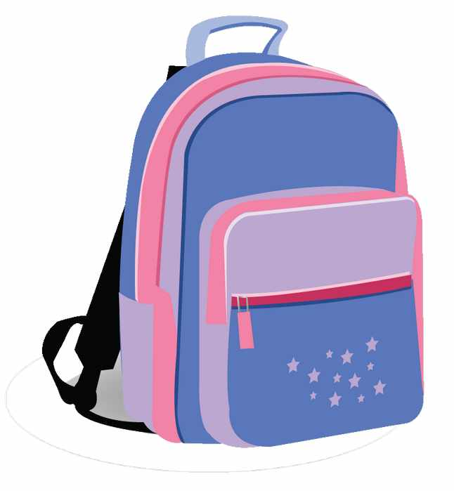 Backpack clipart bagpack. Girl with clip art