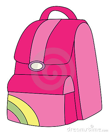 Backpack clipart bagpack. Girl with pink clipground