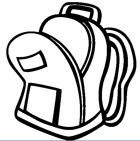 Clip art clipartix. Backpack clipart black and white