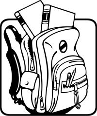 Backpack clipart black and white. Free images clipartix open