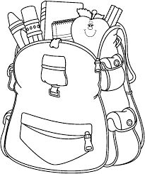Back to school teachers. Backpack clipart black and white