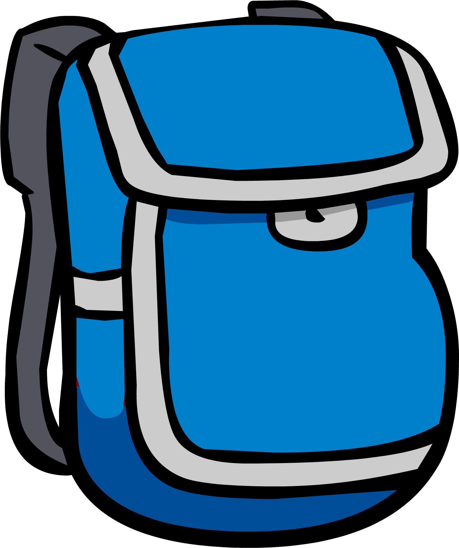Image icon png club. Clipart backpack blue bag