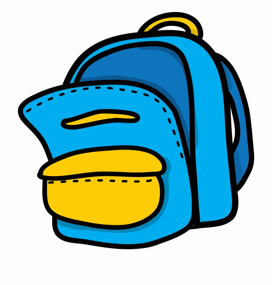 Yellow mon sac d. Backpack clipart blue backpack