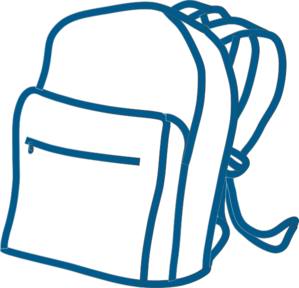 Blue backpack clip art. Bag clipart transparent background