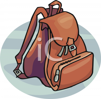 Clip art picture of. Backpack clipart bookbag