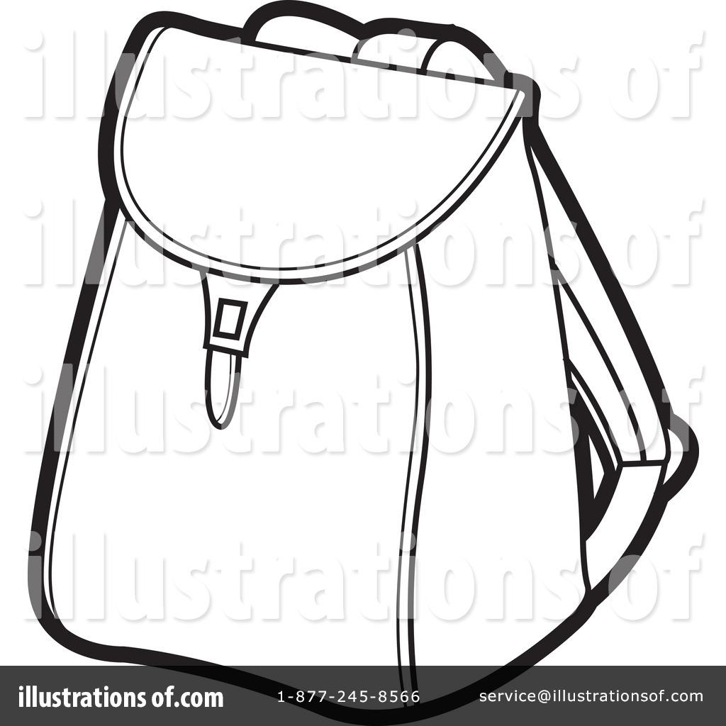 Bookbag clipart outline. Drawing at getdrawings com