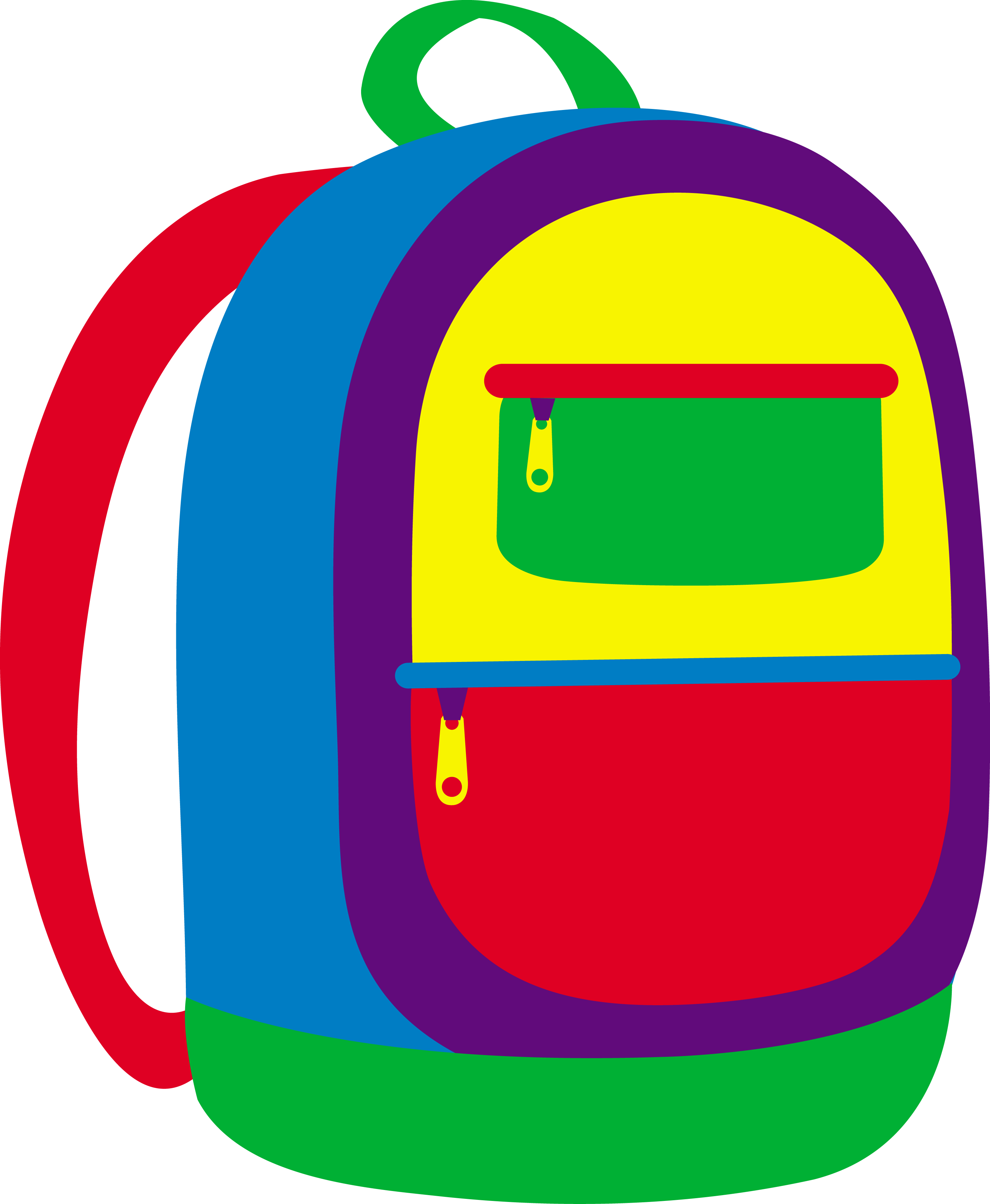 Colorful childrens school backpack. Win clipart cartoon