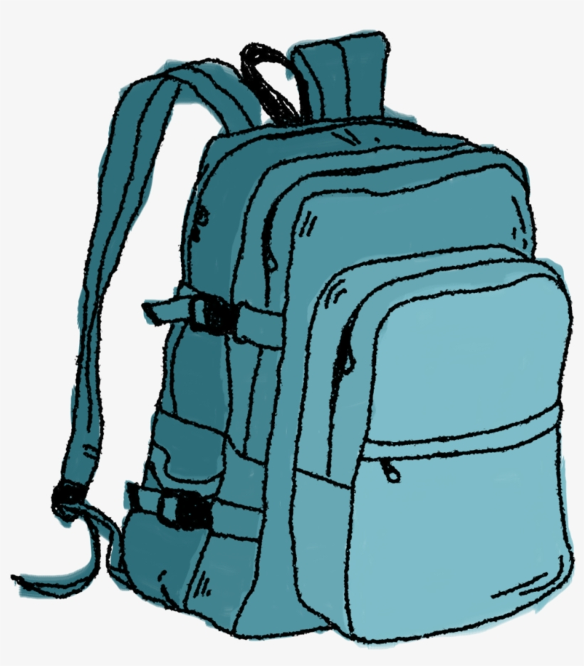 Backpack clipart border. Hiking clip art free