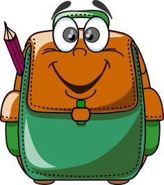 Blue backpack png graphics. Bookbag clipart high school