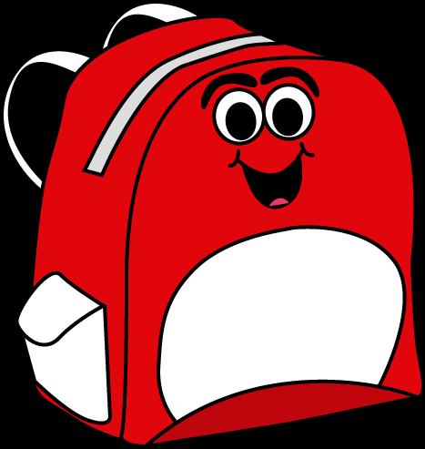 Backpack clipart cartoon. Clip art panda free