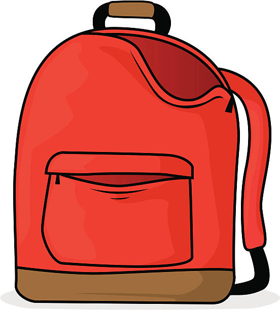 Station . Backpack clipart cartoon