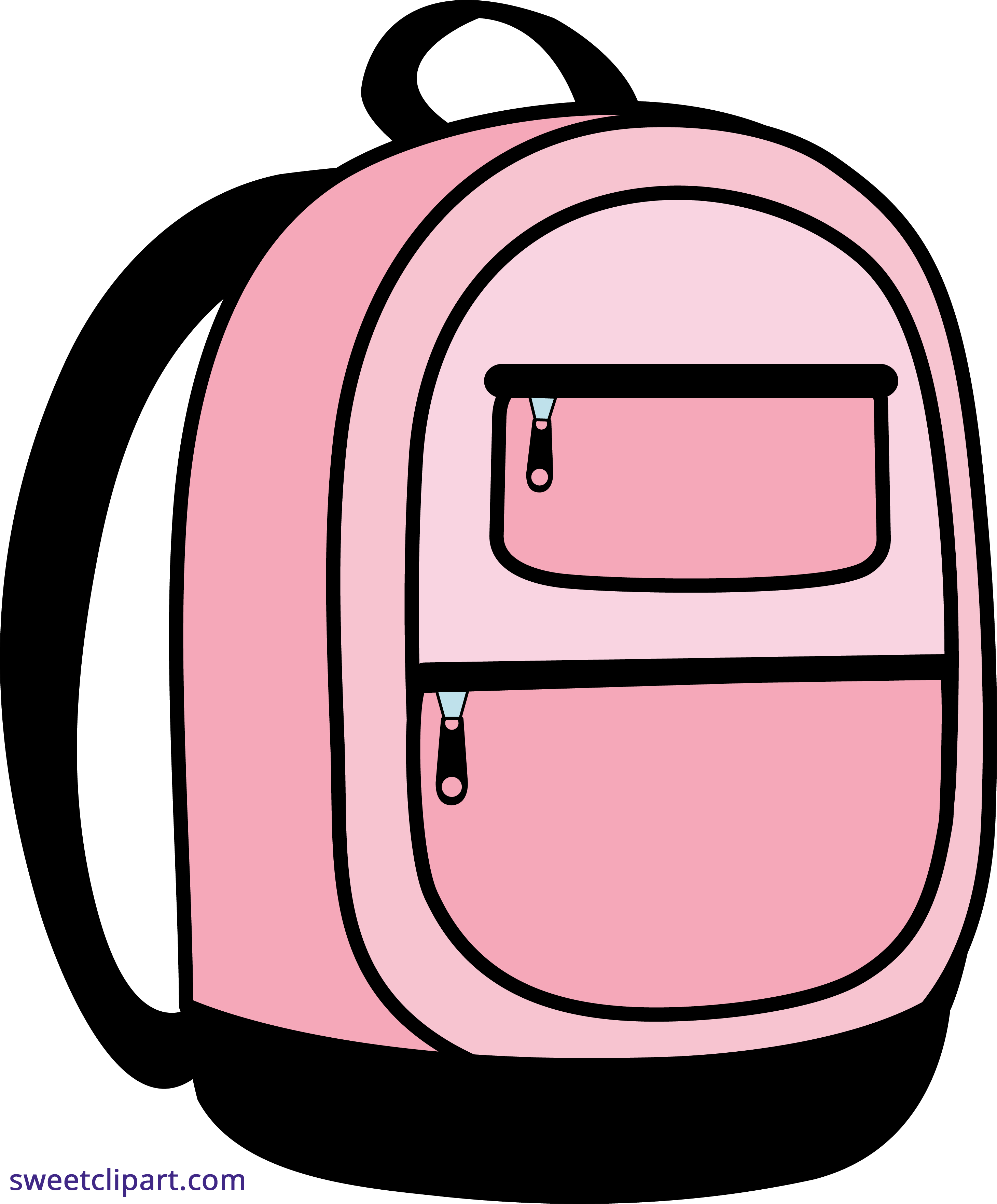Clipart backpack small backpack. Pink school sweet clip
