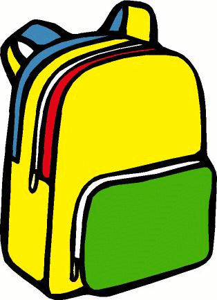 Free public domain clip. Backpack clipart classroom