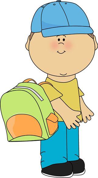 Bookbag clipart kid.  best school images