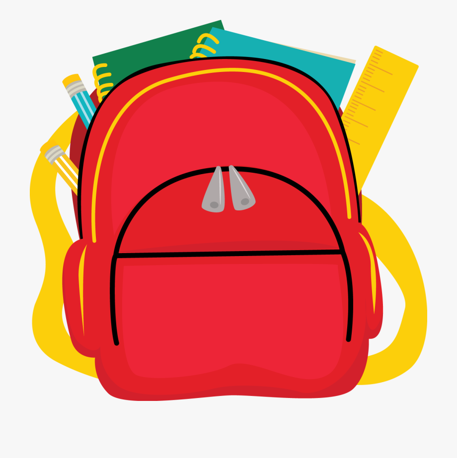 Bags homework transparent . Backpack clipart clear background