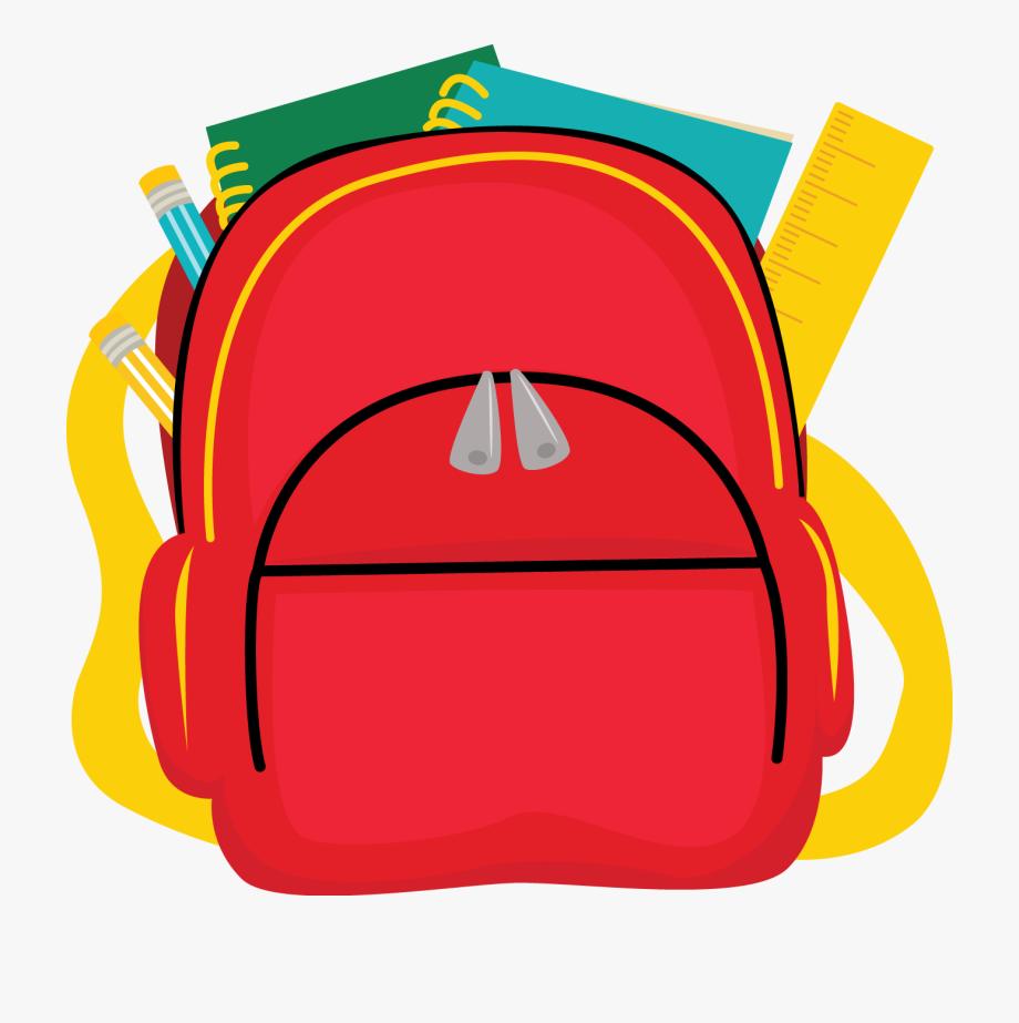 Bags transparent background backpack. Bookbag clipart homework