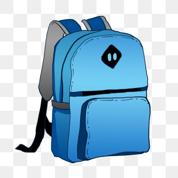 Backpack clipart clear background. Hand painted png vector